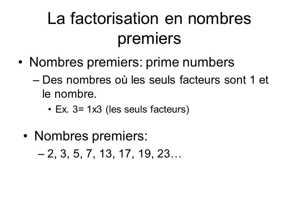 La factorisation en nombres premiers