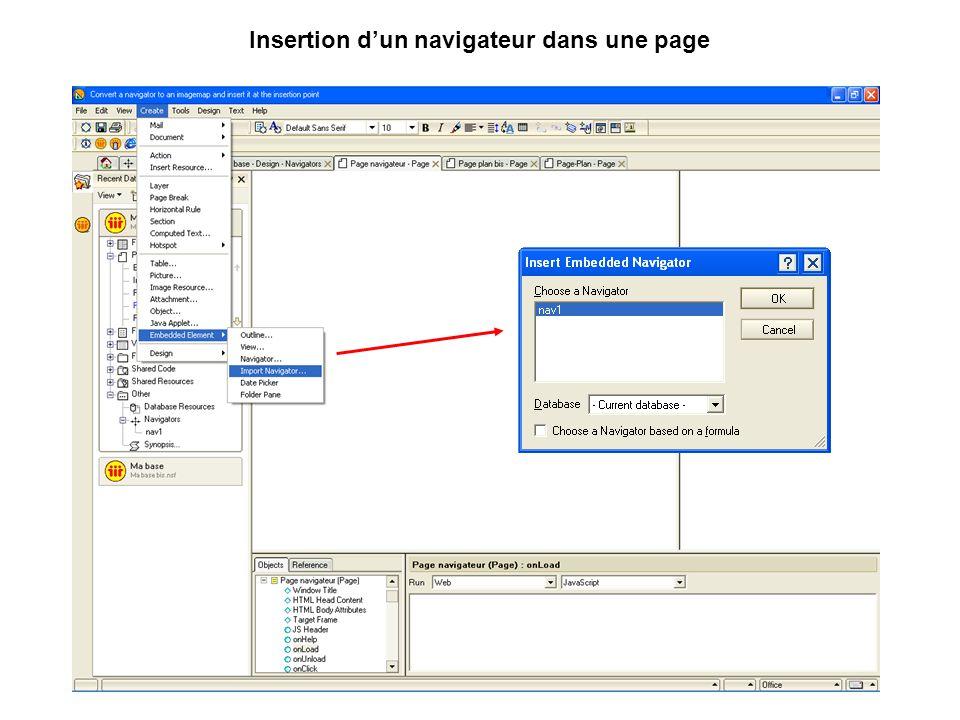 Insertion d'un navigateur dans une page