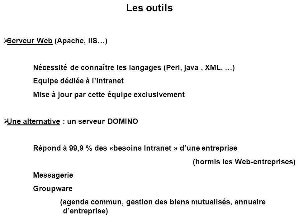 Les outils Serveur Web (Apache, IIS…)
