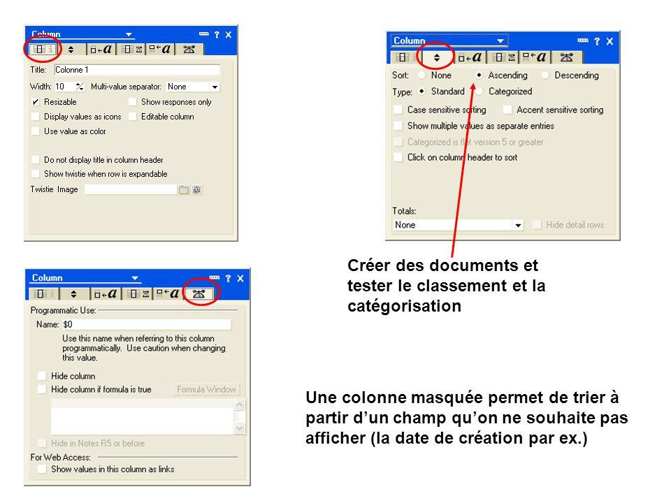 Créer des documents et tester le classement et la catégorisation