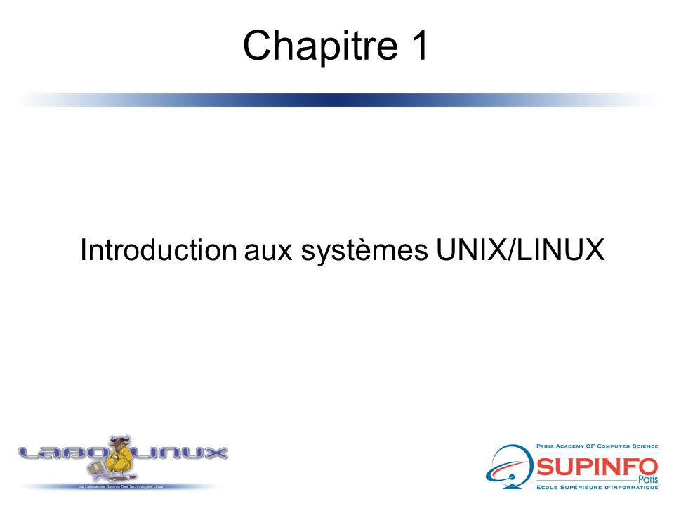 Introduction aux systèmes UNIX/LINUX