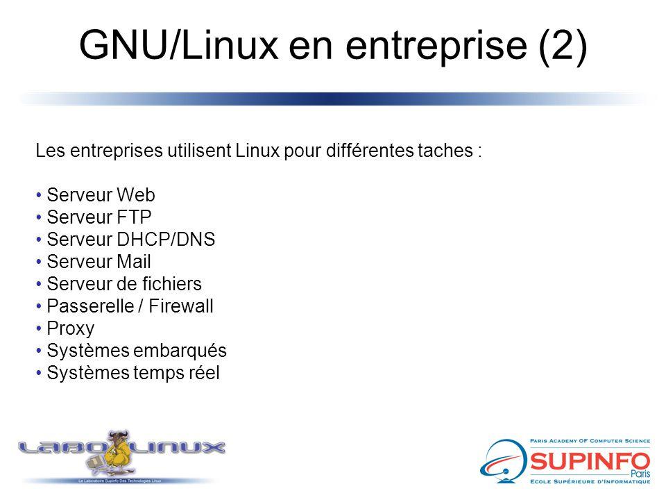 GNU/Linux en entreprise (2)