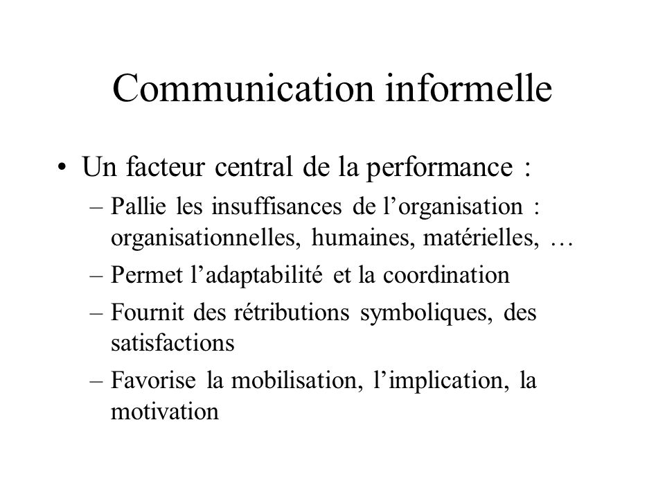 Communication informelle