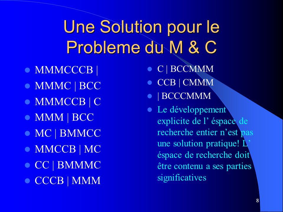 Une Solution pour le Probleme du M & C
