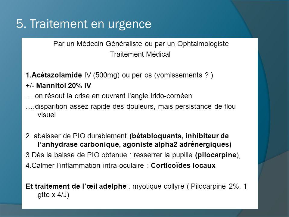 Par un Médecin Généraliste ou par un Ophtalmologiste