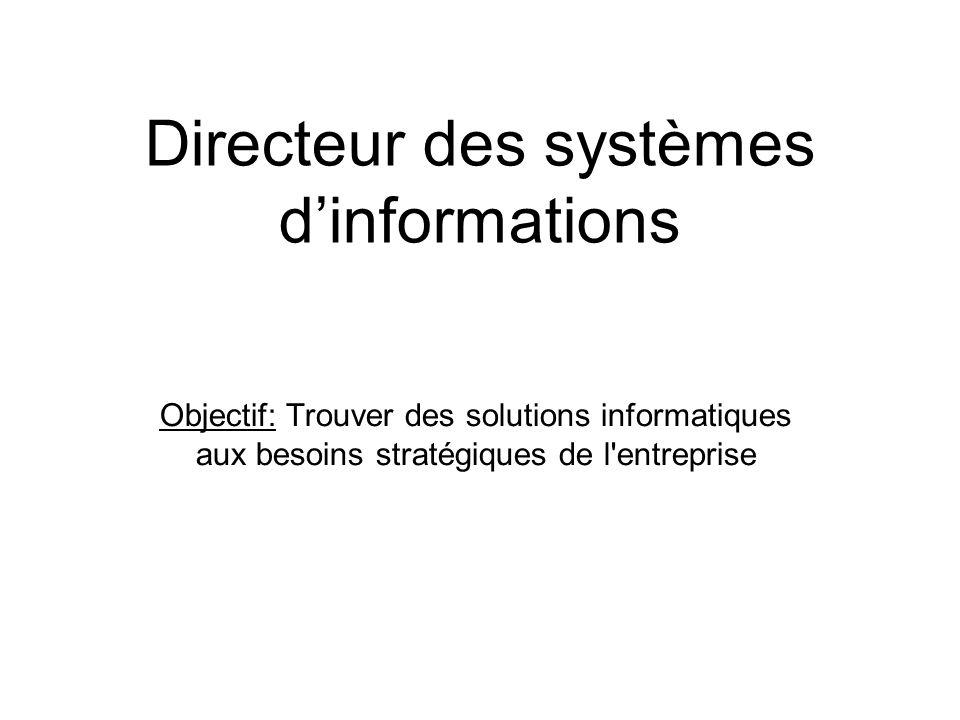 Directeur des systèmes d'informations