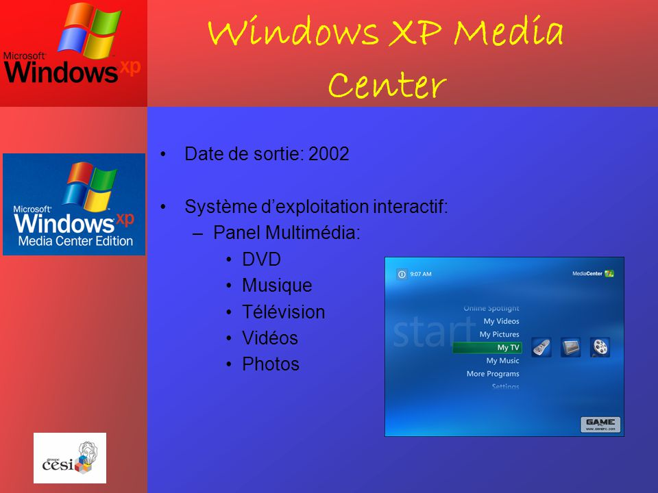 Windows XP Media Center