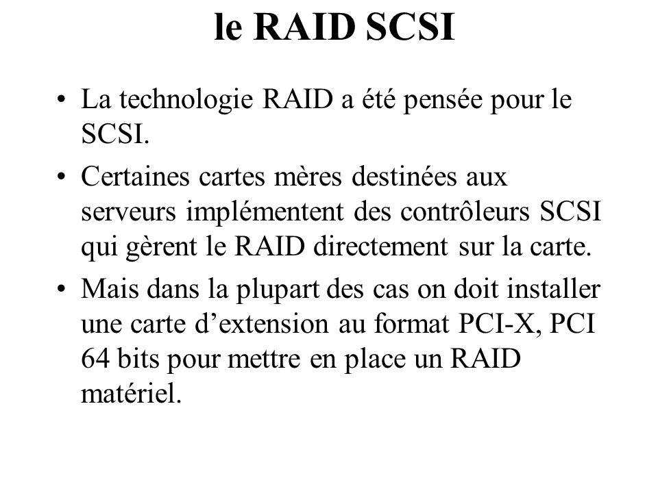 le RAID SCSI La technologie RAID a été pensée pour le SCSI.