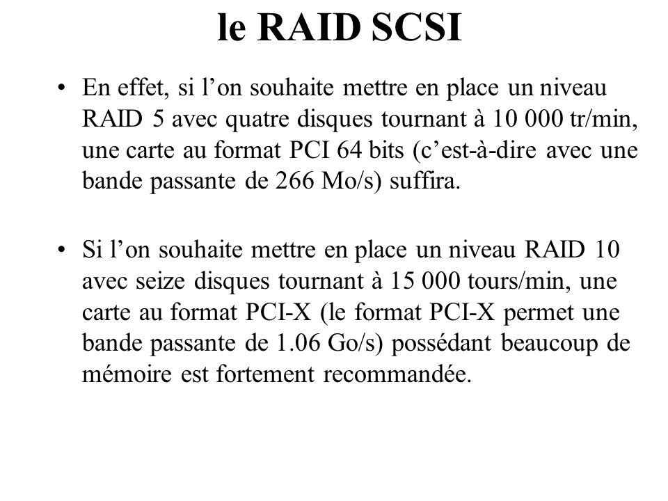 le RAID SCSI