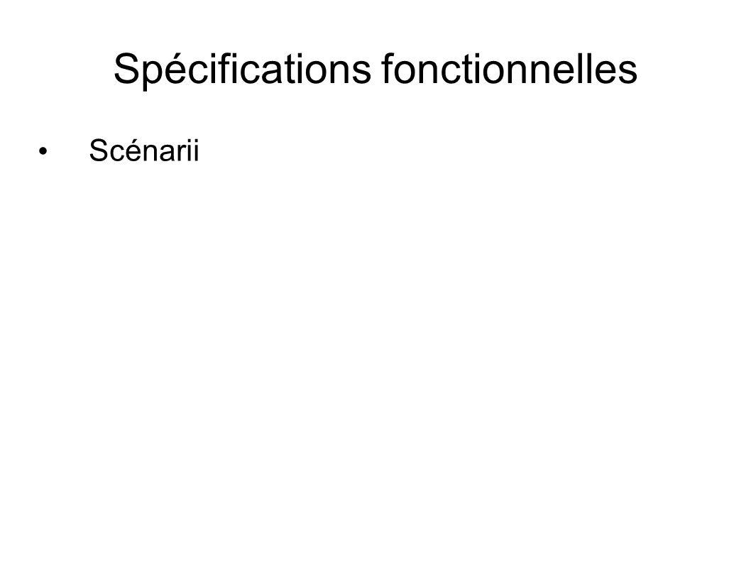 Spécifications fonctionnelles