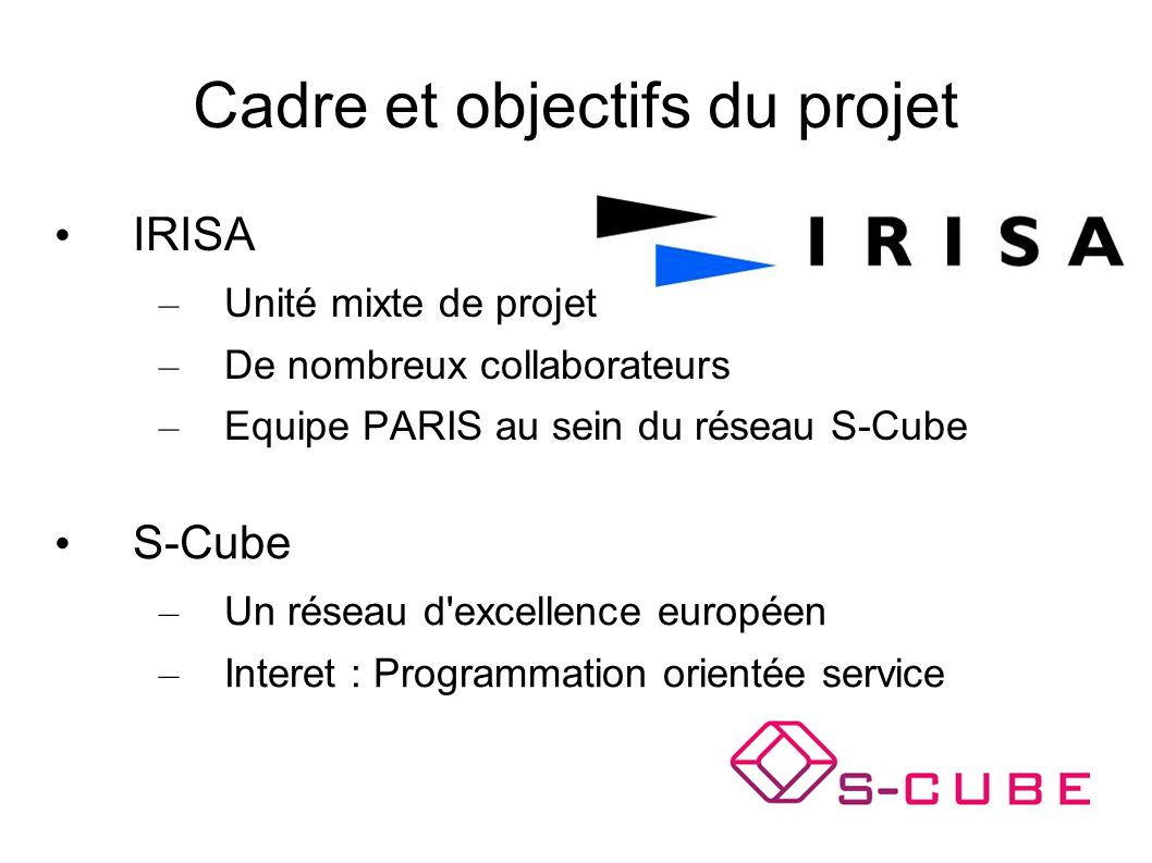 Cadre et objectifs du projet