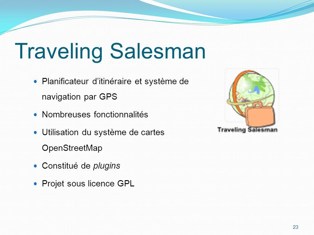 Traveling Salesman Planificateur d'itinéraire et système de navigation par GPS. Nombreuses fonctionnalités.
