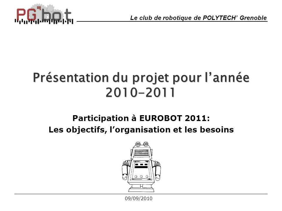 Présentation du projet pour l'année 2010-2011
