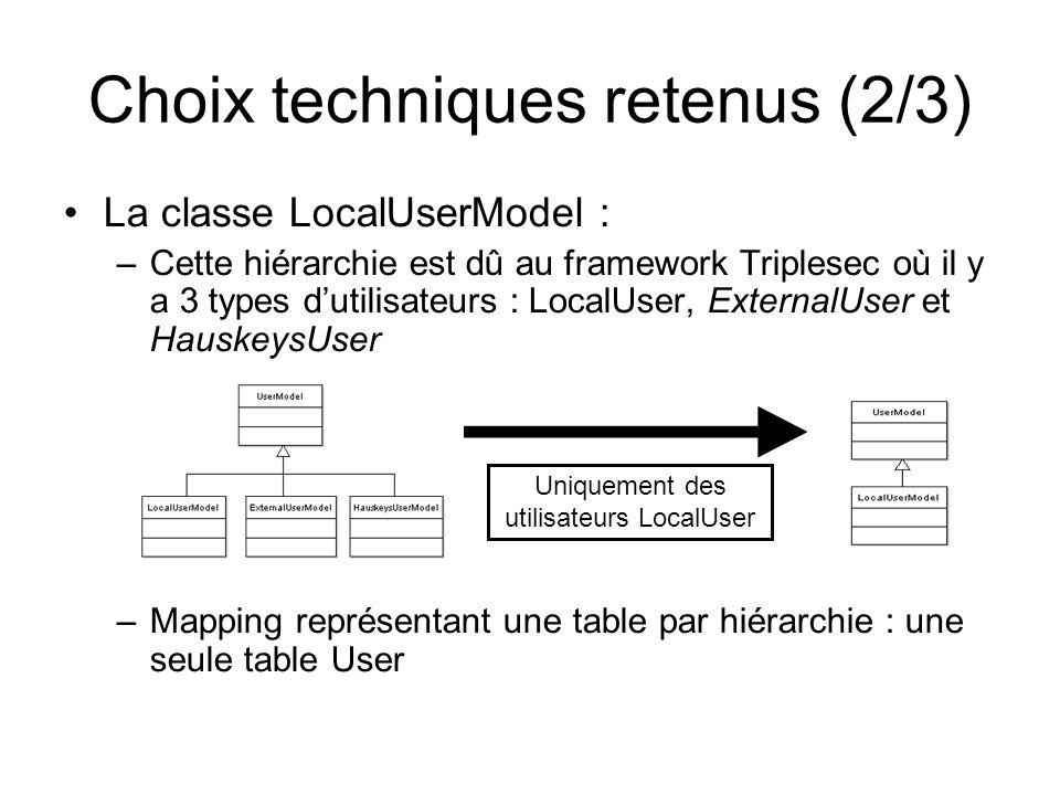 Choix techniques retenus (2/3)
