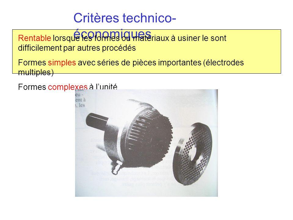 Critères technico-économiques