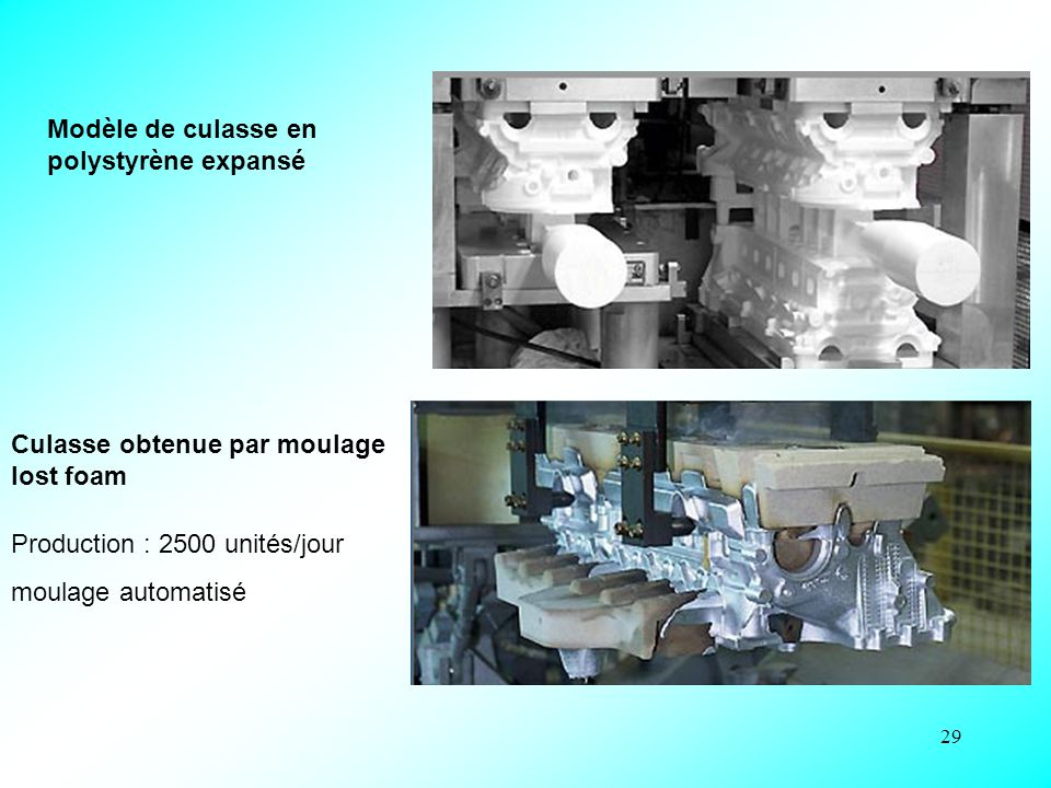 Modèle de culasse en polystyrène expansé