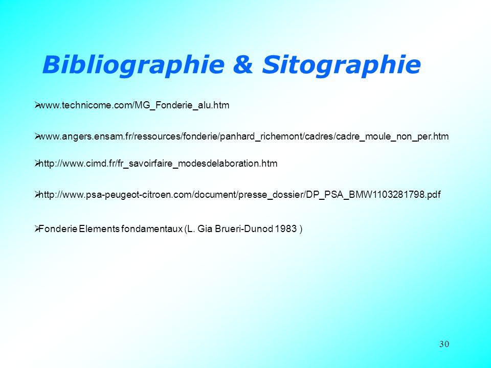 Bibliographie & Sitographie