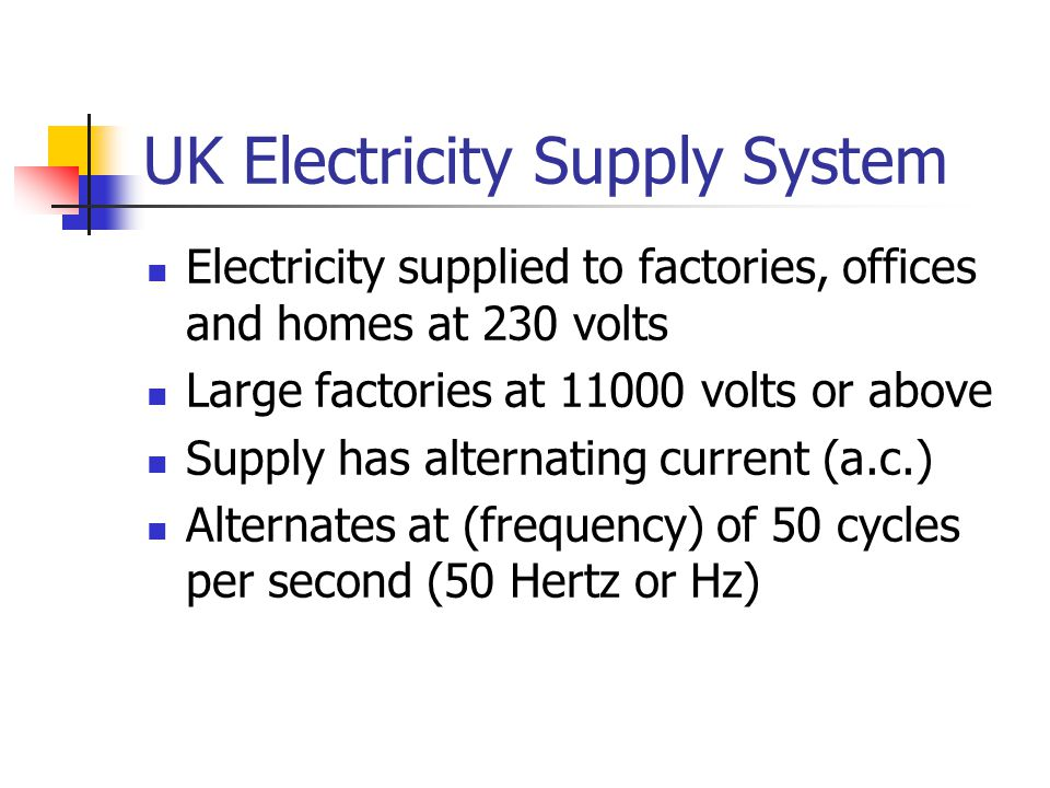 UK Electricity Supply System