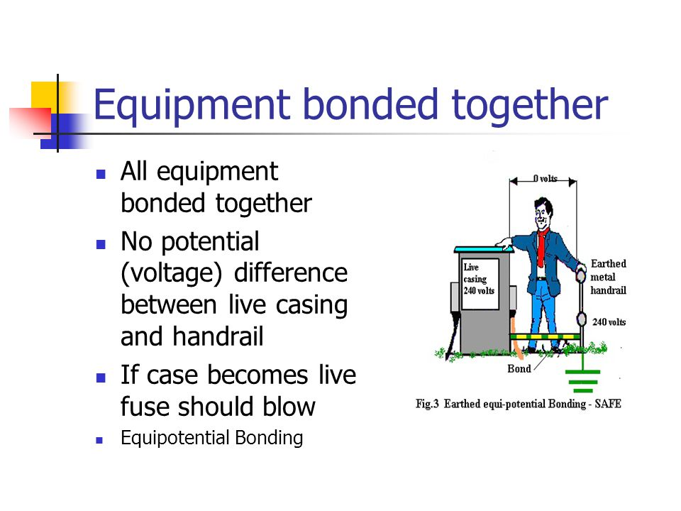 Equipment bonded together
