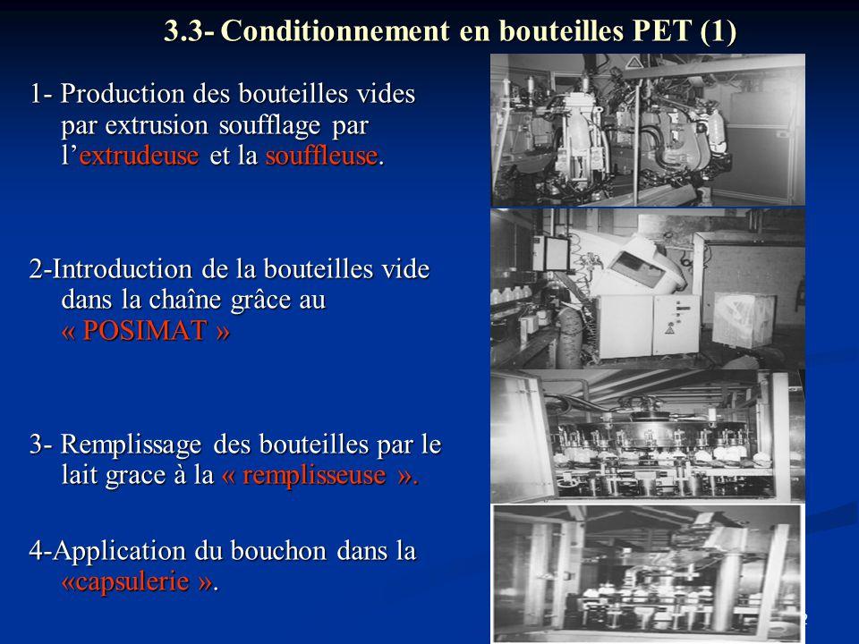 3.3- Conditionnement en bouteilles PET (1)