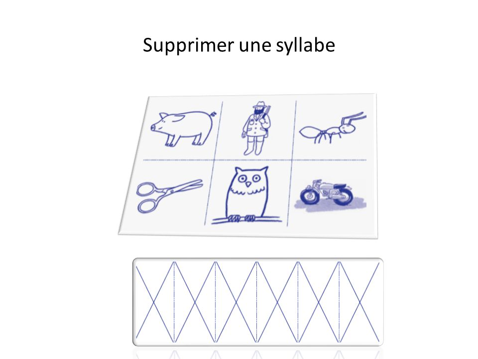 Supprimer une syllabe