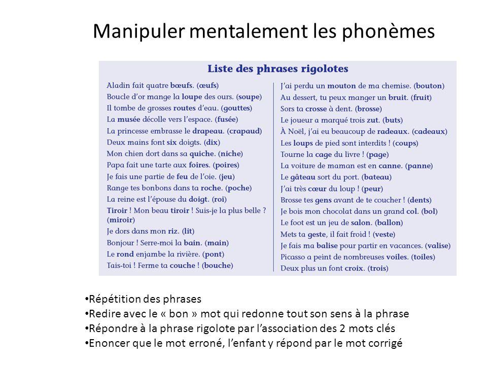 Manipuler mentalement les phonèmes