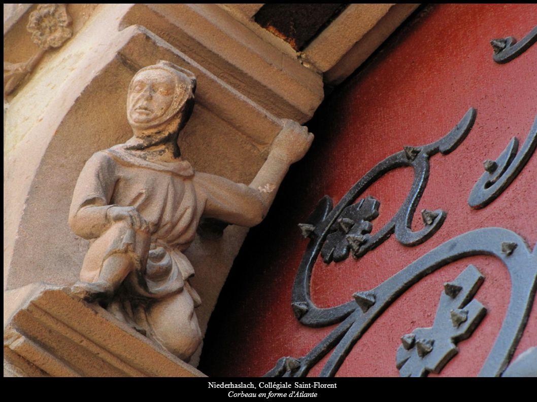 Niederhaslach, Collégiale Saint-Florent Corbeau en forme d Atlante