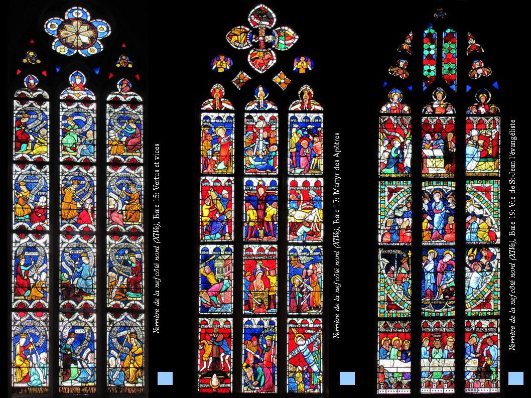 Verrière de la nef côté nord (XIVe), Baie 17: Martyr des Apôtres