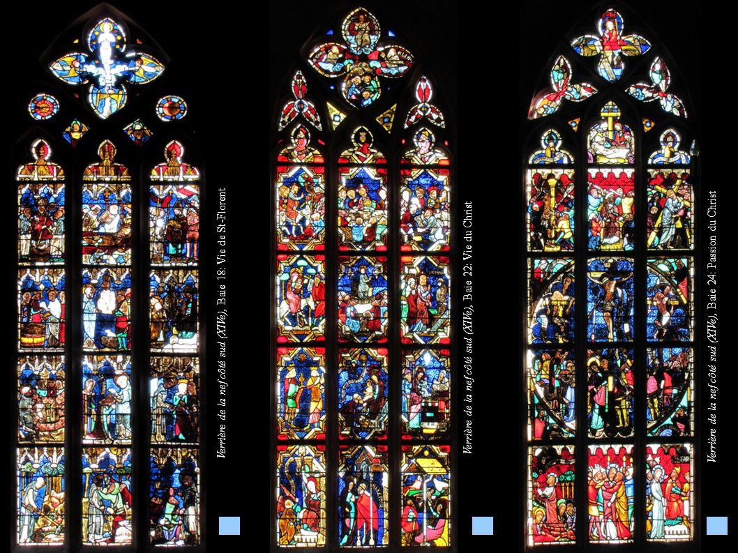 Verrière de la nef côté sud (XIVe), Baie 18: Vie de St-Florent