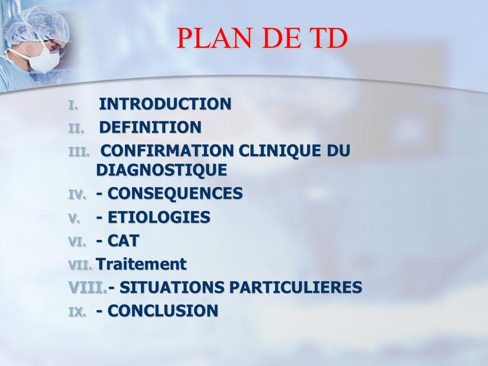 PLAN DE TD INTRODUCTION DEFINITION