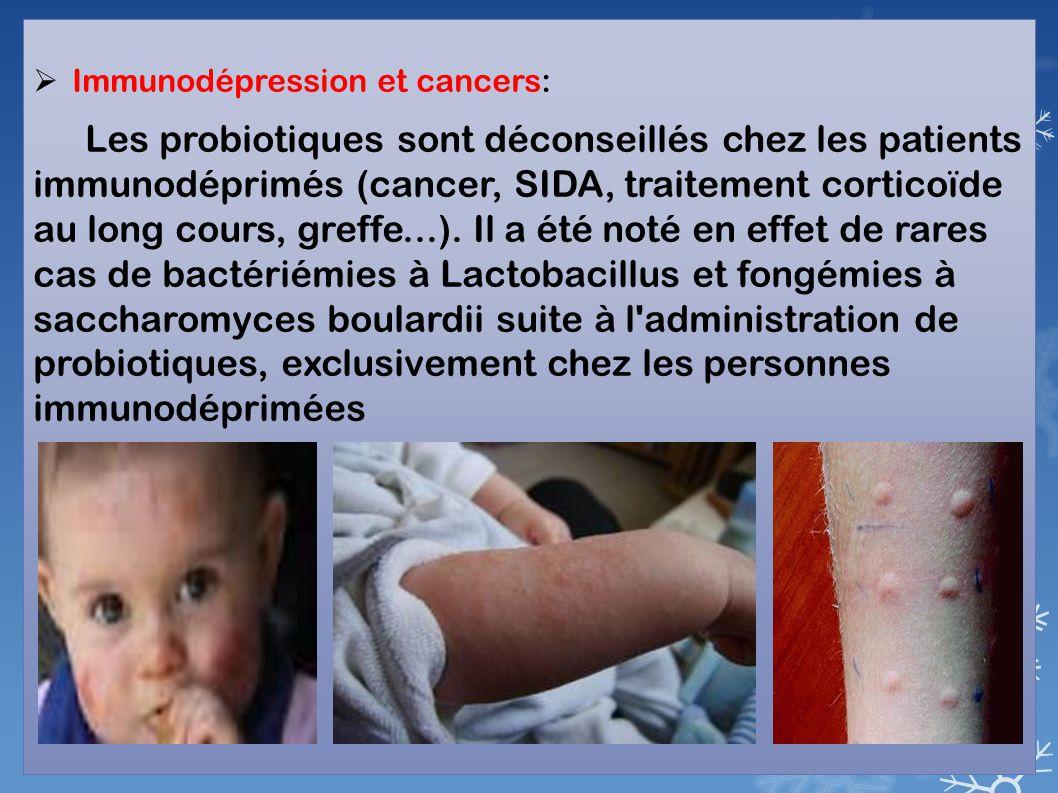 Immunodépression et cancers: