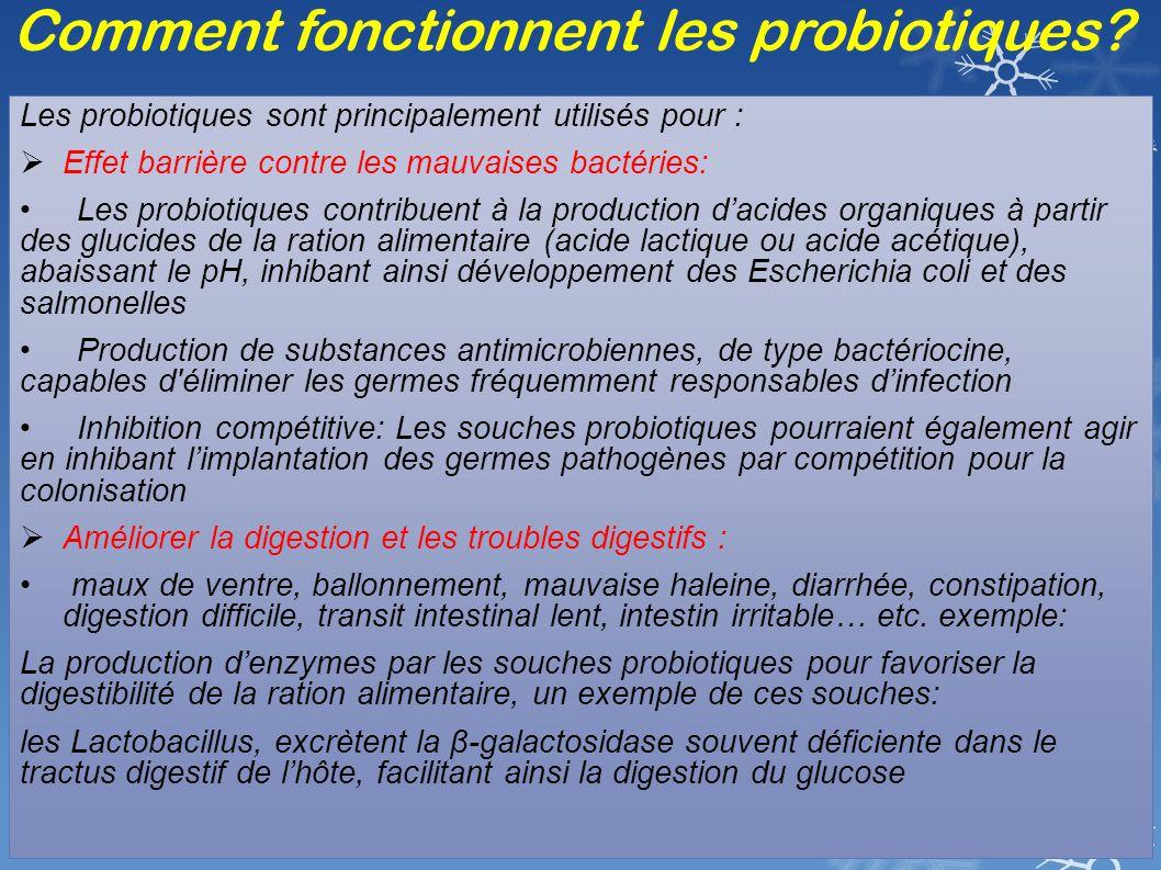 Comment fonctionnent les probiotiques