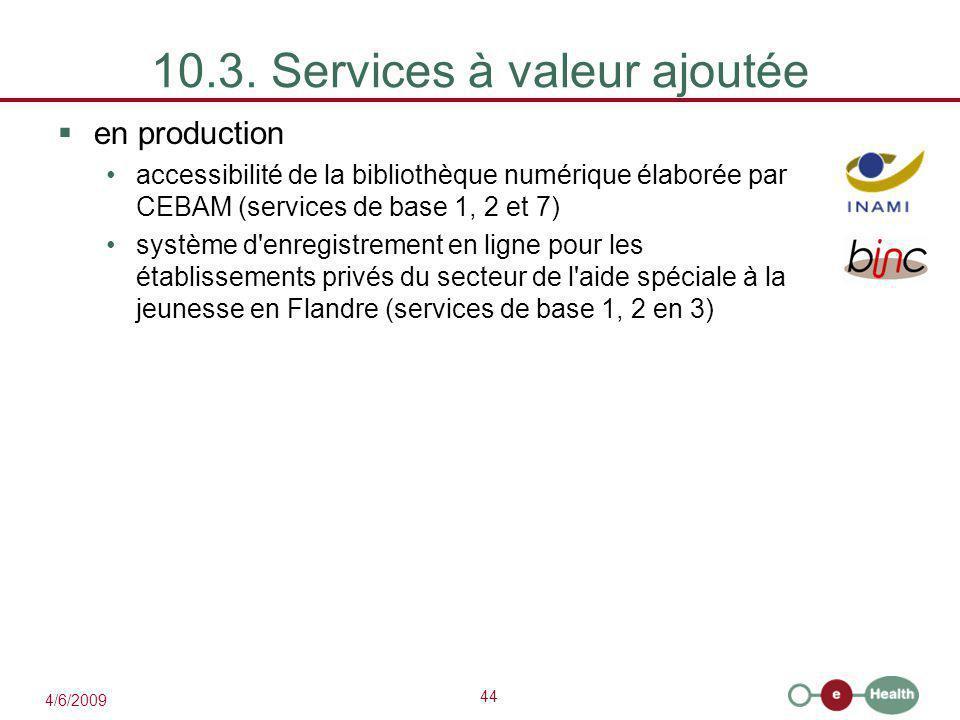 10.3. Services à valeur ajoutée