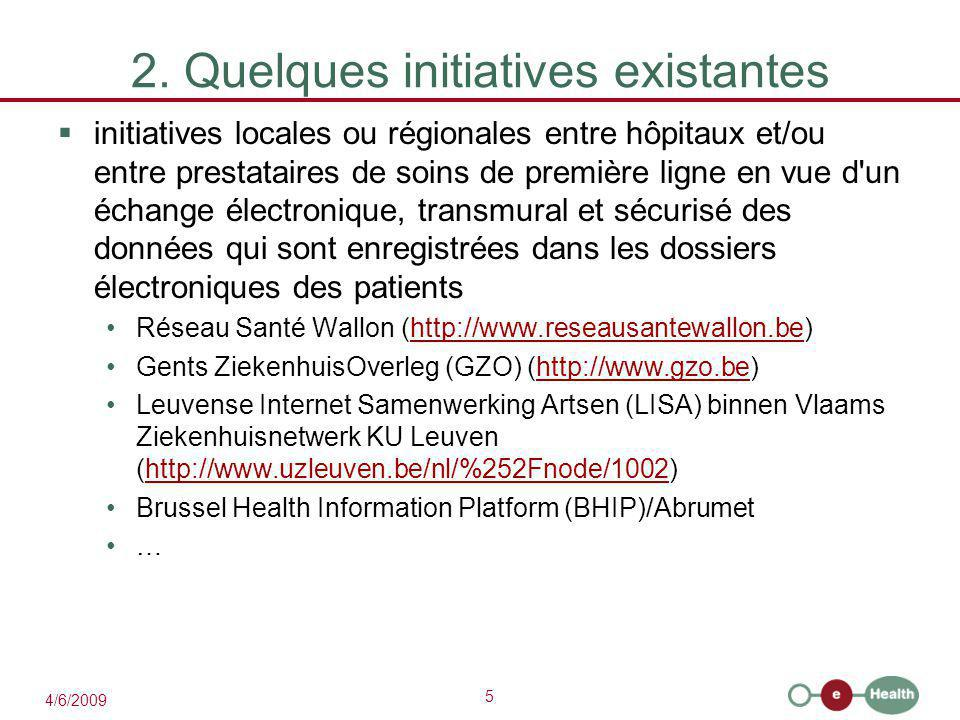 2. Quelques initiatives existantes