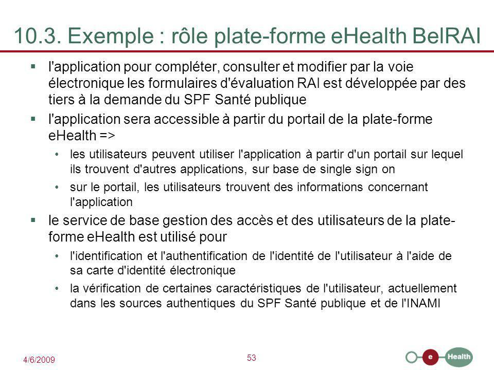 10.3. Exemple : rôle plate-forme eHealth BelRAI