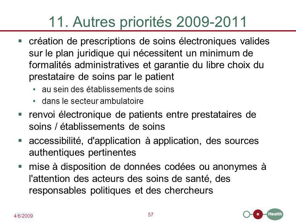 11. Autres priorités 2009-2011