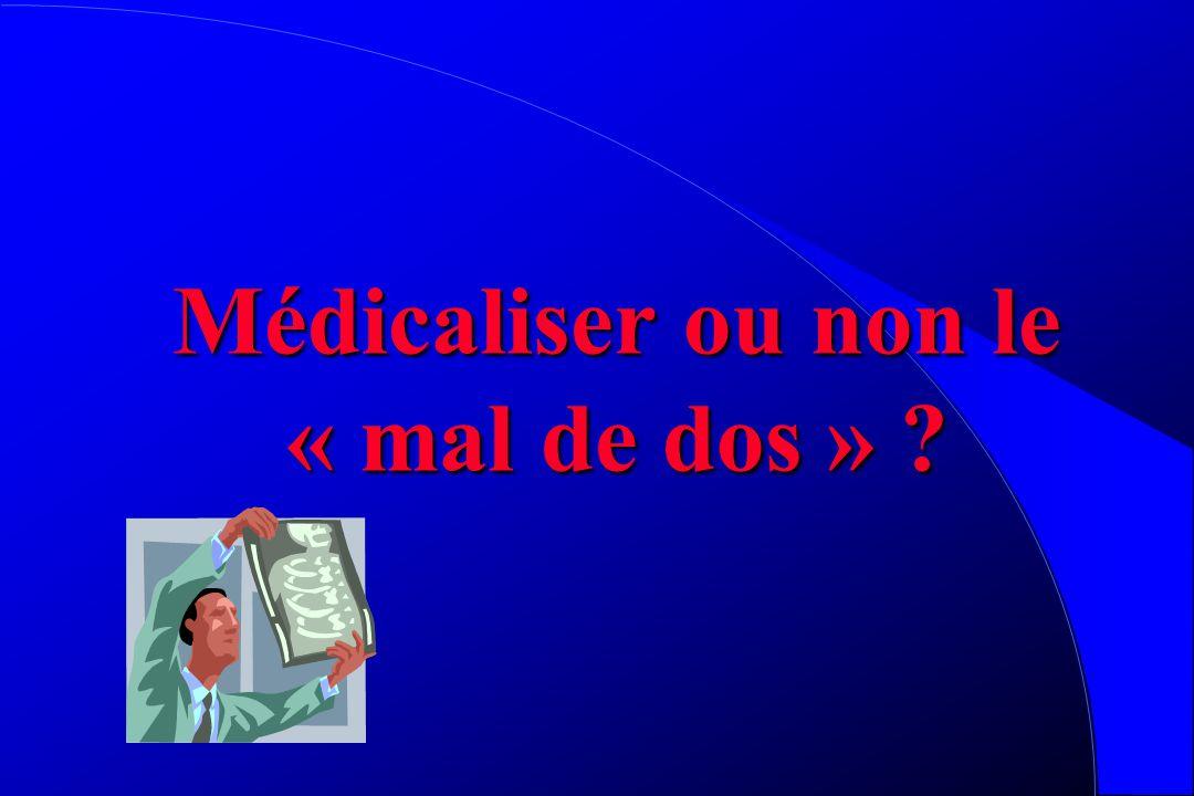Médicaliser ou non le « mal de dos »