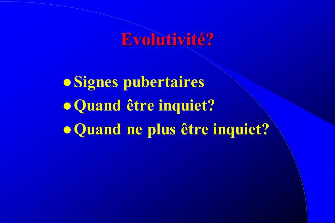Evolutivité Signes pubertaires Quand être inquiet