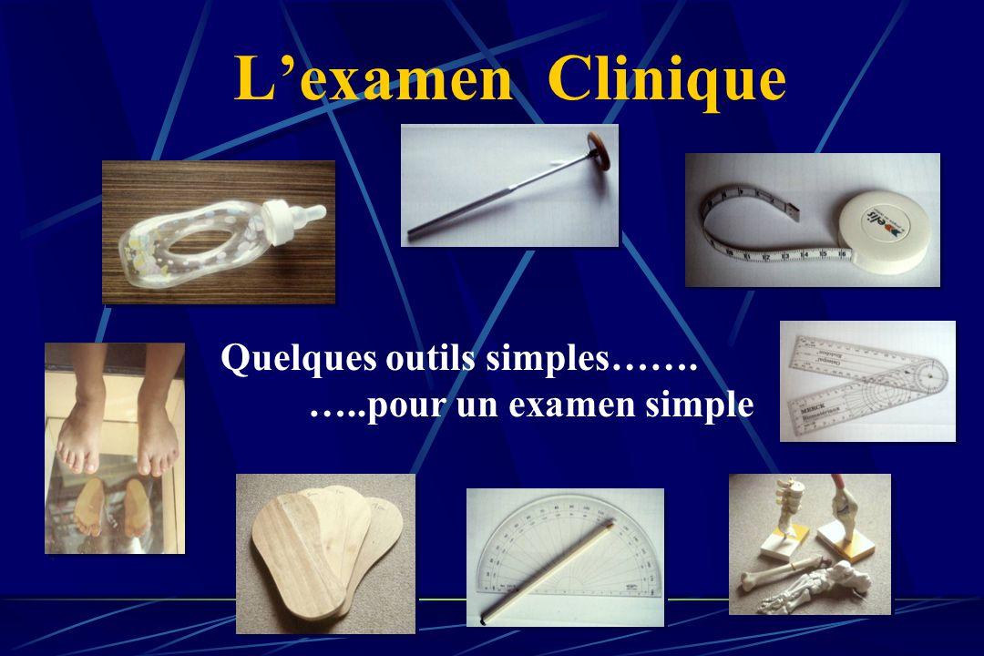 L'examen Clinique Quelques outils simples……. …..pour un examen simple