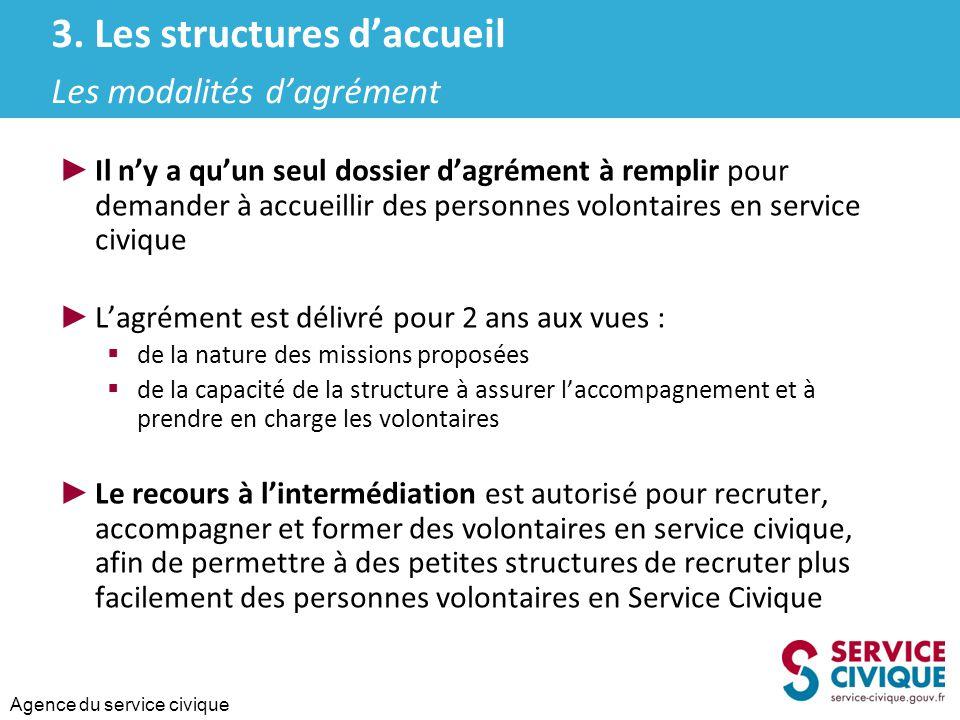 3. Les structures d'accueil Les modalités d'agrément