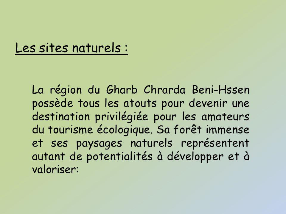 Les sites naturels :