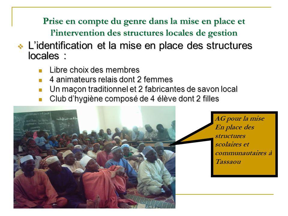 L'identification et la mise en place des structures locales :