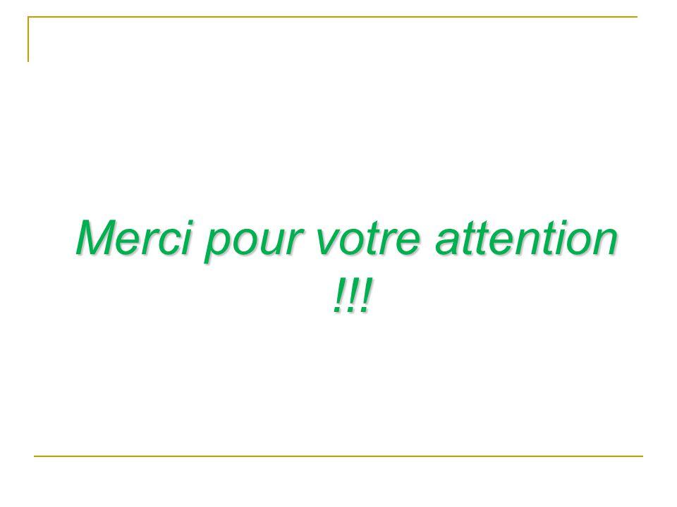 Merci pour votre attention !!!