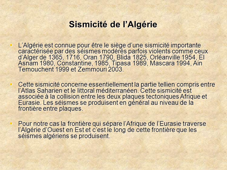 Sismicité de l'Algérie