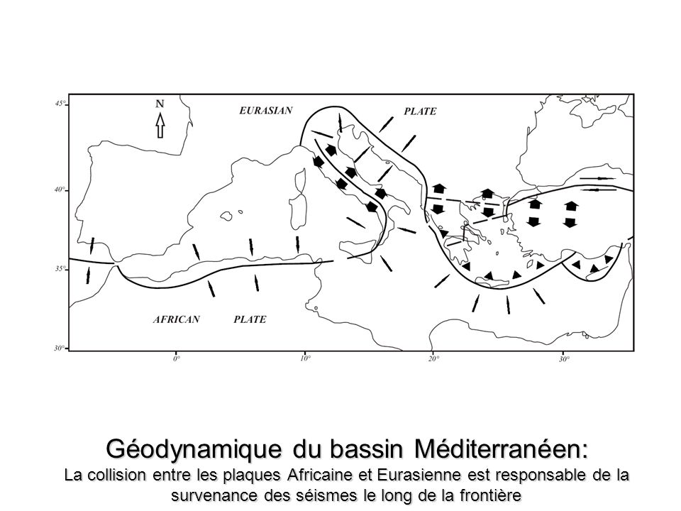 Géodynamique du bassin Méditerranéen: La collision entre les plaques Africaine et Eurasienne est responsable de la survenance des séismes le long de la frontière