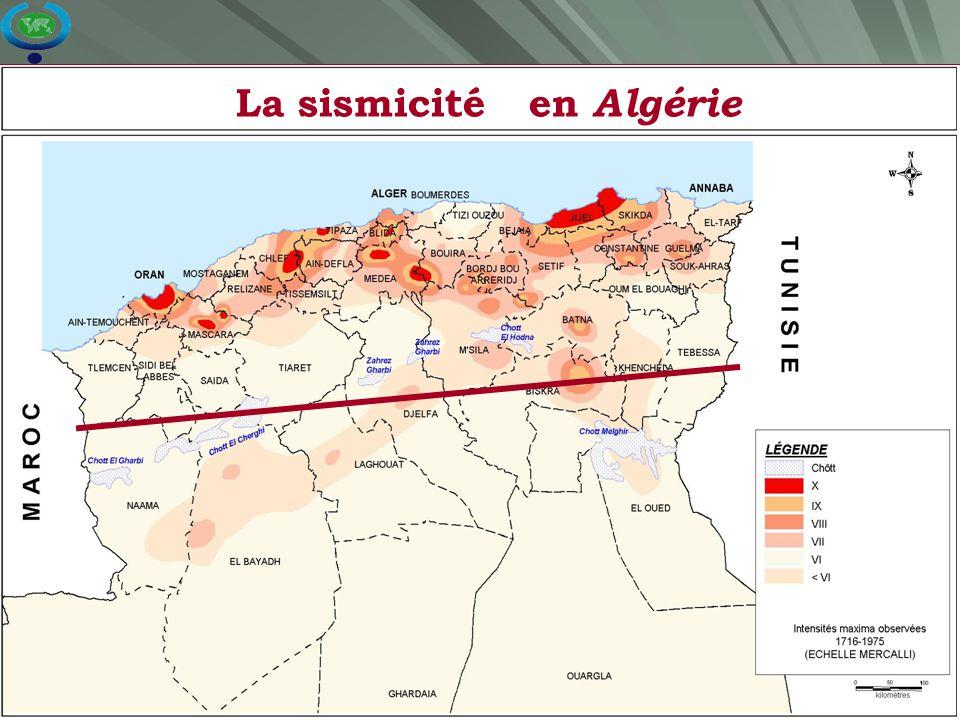 La sismicité en Algérie