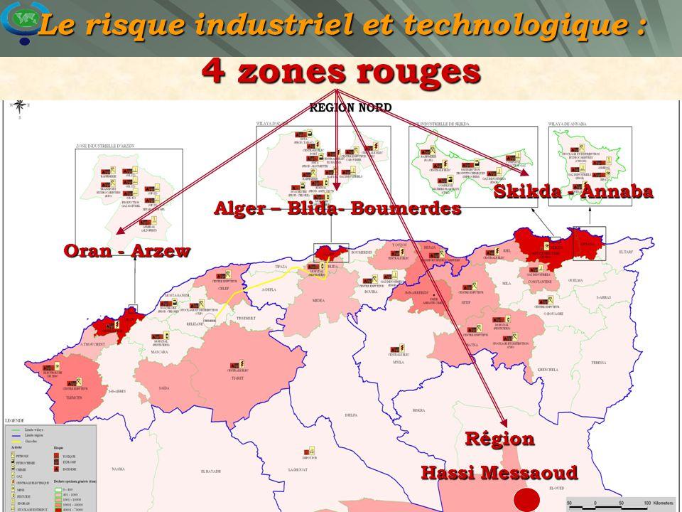 Le risque industriel et technologique : 4 zones rouges