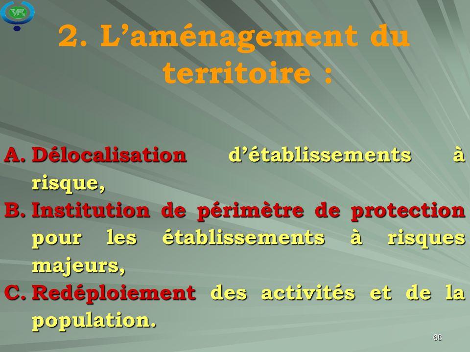 2. L'aménagement du territoire :