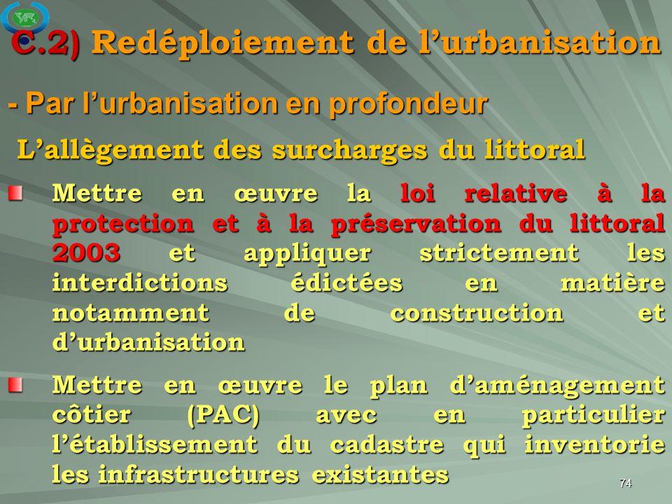 C.2) Redéploiement de l'urbanisation