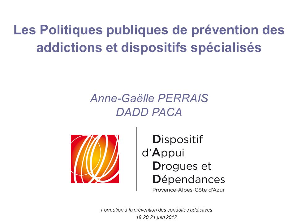 Formation à la prévention des conduites addictives